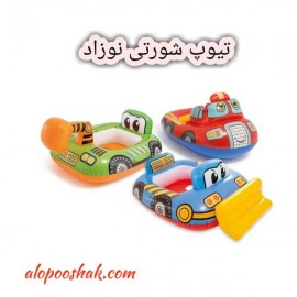 تیوپ بادی شورتی نوزاد ( کودک ) طرح ماشین بتمن