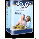پوشک بزرگسال چسبی کانفی متوسط confy m بسته 9 عددی