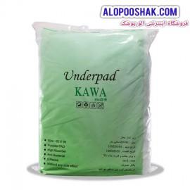 زیرانداز بهداشتی بیمار یکبار مصرف کاوا kawa  سایز 60 در 90 بسته 10 عددی